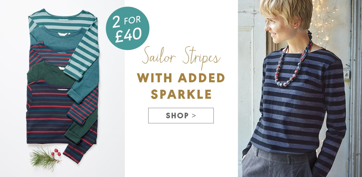 Sailor Stripes, with added sparkle. Shop