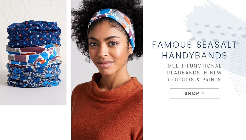 Multi-functional headbands in new colours and prints