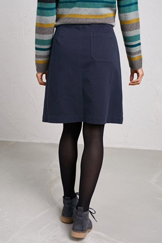 Mariner Skirt, Cotton Canvas Knee Length Skirt - Seasalt Cornwall