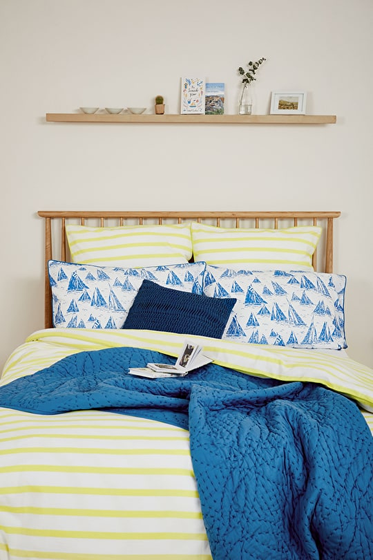Yarn-Dyed Striped Cotton Duvet Bed Cover - Seasalt
