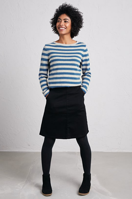 Hemmick Jumper - Striped Merino Wool Jumper - Seasalt Cornwall