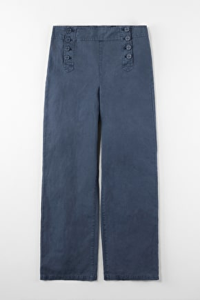 Mariner Wide Leg Cotton Canvas Trouser - Seasalt