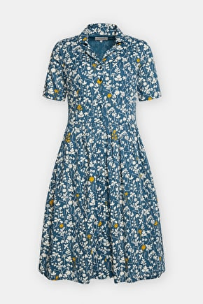 Charlotte Dress, Midi Length Cotton Shirtdress