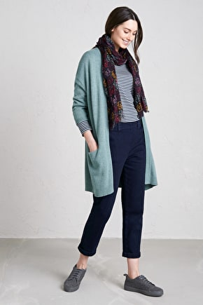 Couplet Cardigan, Lightweight Edge to Edge Oversized Merino Knit