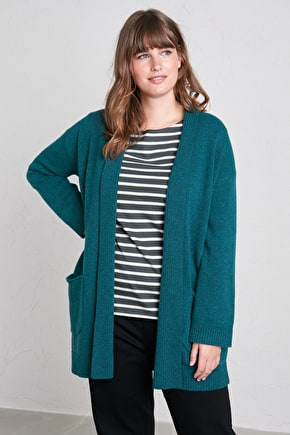 Studio Life Long Cardigan, in Cosy Merino Mix - Seasalt
