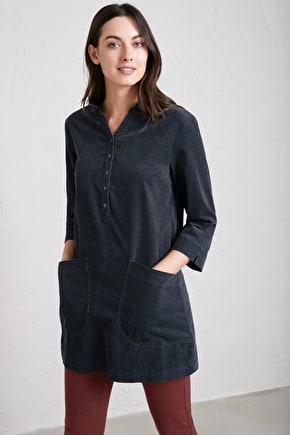 Arty Tunic Top in Super Soft Cotton Cord - Seasalt