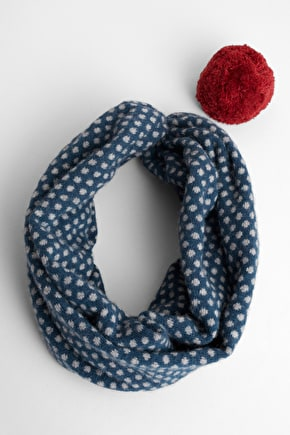 Wear the Nifty Knit as a Scarf or Pom pom Hat - Seasalt