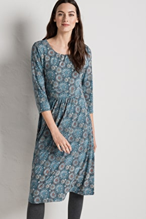 Kestrel Dress - Fit & Flare Bamboo Jersey Dress - Seasalt