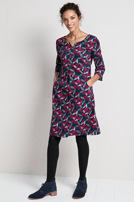 Kestle Barton Dress, Flatttering A-line Corduroy  - Seasalt
