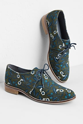 High Cliff Shoe, Printed Patterned Derby Shoe - Seasalt