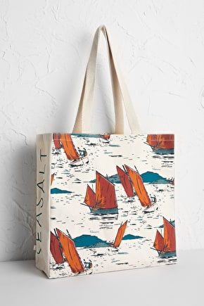 Sailcloth shopping bag, 100% cotton and hand screen printed - Seasalt