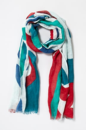 Tranquil Scarf, Linen and Cotton Blend Lightweight Scarf - Seasalt