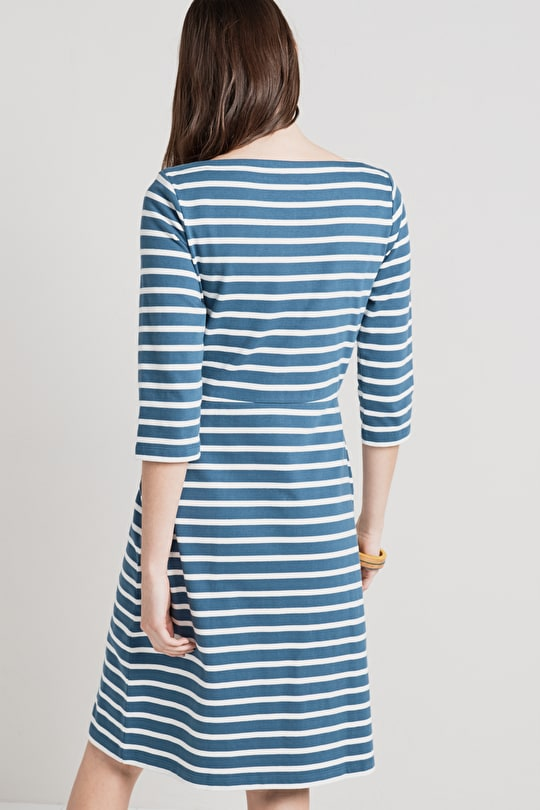 Organic Cotton Breton Striped Stay Sail Dress - Seasalt