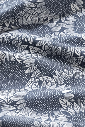 Printed Chambray Fabric - Seasalt