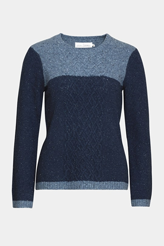 Heritage Cable Knit Jumper. In Cosy Lambswool - Seasalt