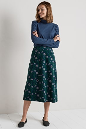Fabulous Midi Skirt. In Cotton Cord & Unique Seasalt Prints