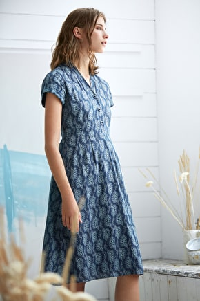 Pencil Box Dress, Cotton Viscose Printed Dress - Seasalt Cornwall