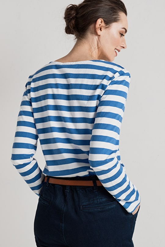 100% Cotton Breton Striped Long Sleeve Top, Made in England - Seasalt