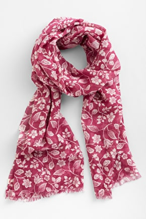 Pretty Printed Wool & Silk Scarf. In Unique Seasalt Prints