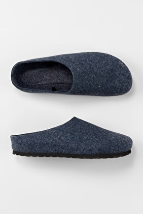 Handsome Men's Slippers In Felted Wool - Seasalt