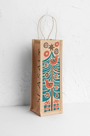 Wine Jute Bag. Perfect Wrap For a Boozy Gift - Seasalt