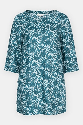 Penarth Tunic, Linen Printed Tunic Top - Seasalt