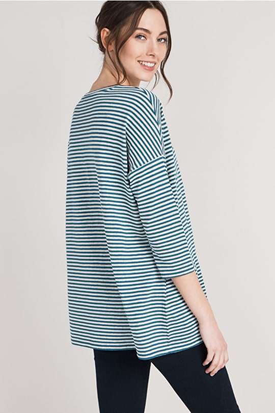 Burrow Top, Linen Cotton Long Sleeve Top - Seasalt