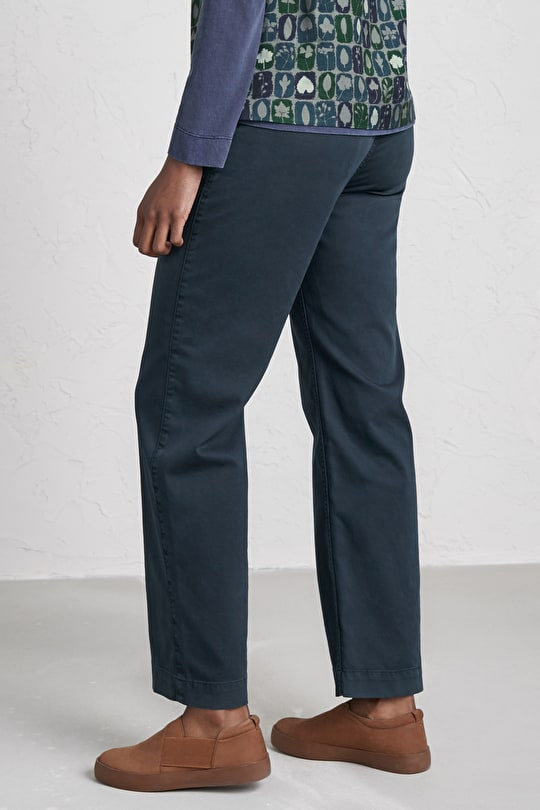 Planchest Trousers, Cotton Canvas Wide Leg Trousers