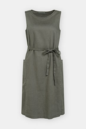 Scenic View Pinafore Dress, Beautiful Linen-Cotton Twill Dress