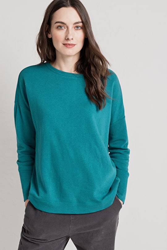 Soft Cotton Jersey Sweatshirt. Effortless Elegance - Seasalt