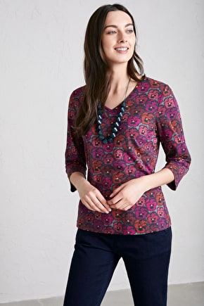 Organic Cotton Top. In Prints Inspired By Cornwall - Seasalt
