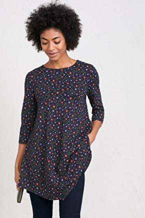 Tresco Abbey Tunic, A-line Organic Cotton Tunic - Seasalt Cotton