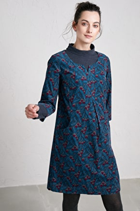 Kestle Barton Dress, Flattering A-line Corduroy  - Seasalt