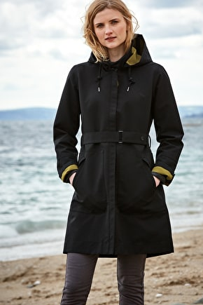 Waterproof Cotton A-line Raincoat, Westerly Mac - Seasalt