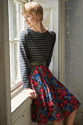 Photo Album Skirt, Heavyweight Long Cotton Skirt  - Seasalt Cornwall