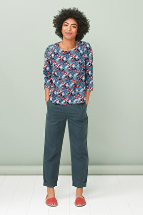 Art Gallery Top, Soft & Drapey Cotton Top - Seasalt Cornwall