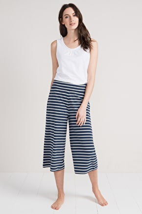 Sea Campion Culottes, Striped Pyjama Bottoms - Seasalt