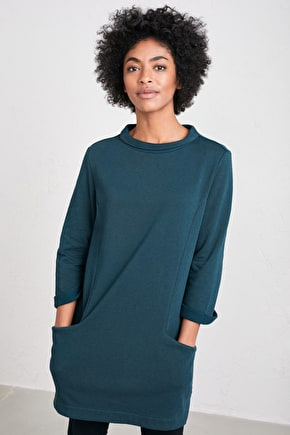 Dark Skies Tunic, Soft Cotton Jersey Sweatshirt - Seasalt Cornwall