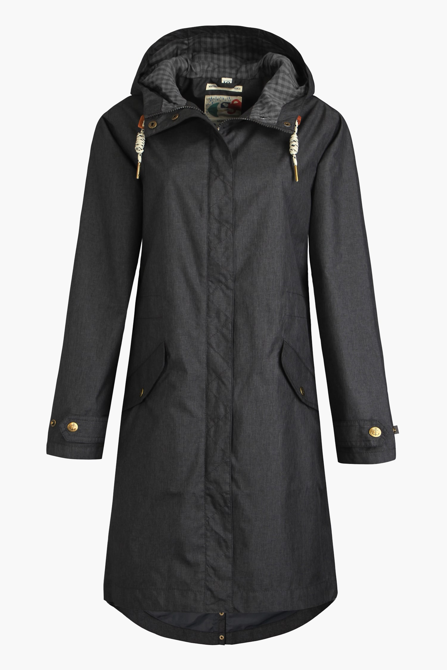Hellweathers Mac Long Lightweight Raincoat Seasalt