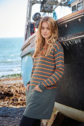 Limpet Tunic | Striped cotton tunic top | Seasalt