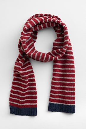 Nancarrow Scarf, Striped Merino Wool Blend - Seasalt