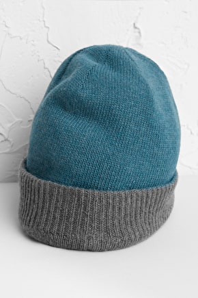 Men's Reversible Hat, Merino & Cashmere Blend  - Seasalt