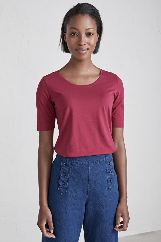 Roundwood Top, Cotton Jersey T-Shirt - Seasalt