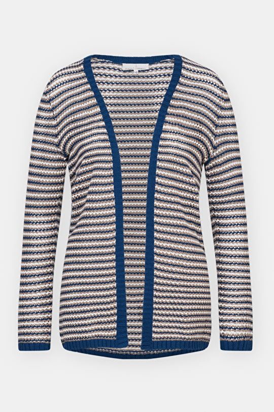 Comfrey, Cotton Edge to Edge Knitted Cardigan - Seasalt