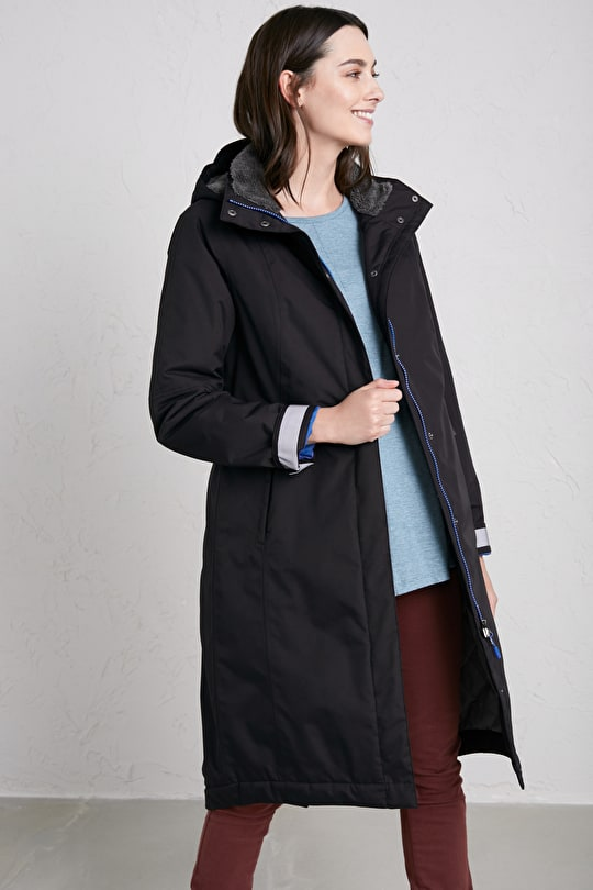 Janelle Coat. Fleece Lined Waterproof Womens Raincoat - Seasalt