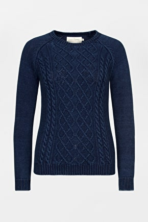 Cable Knitted Womens Fishermens Offshore Jumper - Seasalt