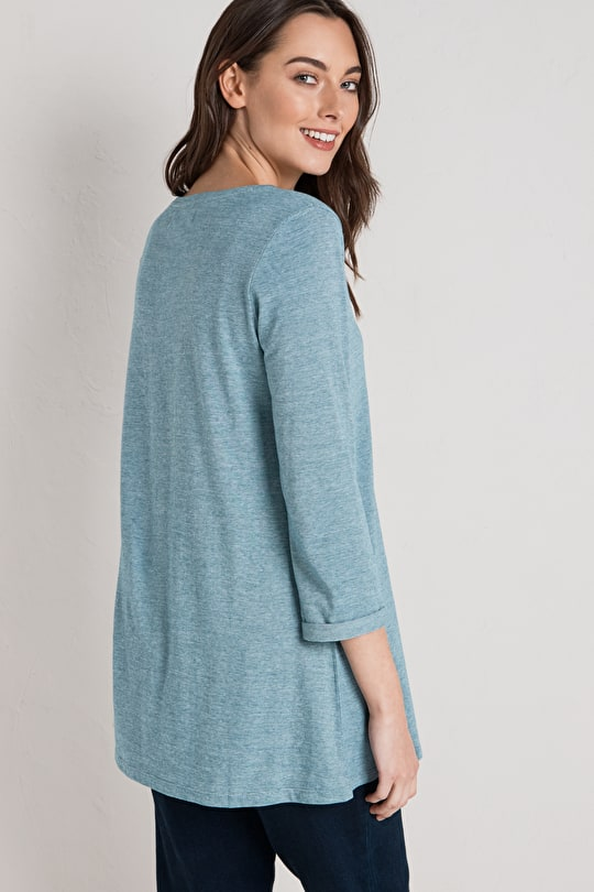 Glasney Tunic, Striped, Swingy A-line Tunic Top - Seasalt
