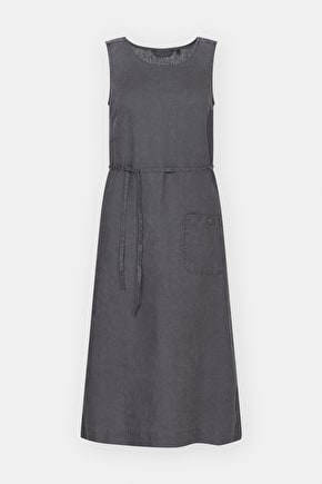 Sketch Pad Dress, Linen Silhouette Midi Summer Dress - Seasalt