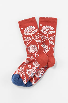 Colourful Bamboo Floral Feet Ankle Socks - Seasalt