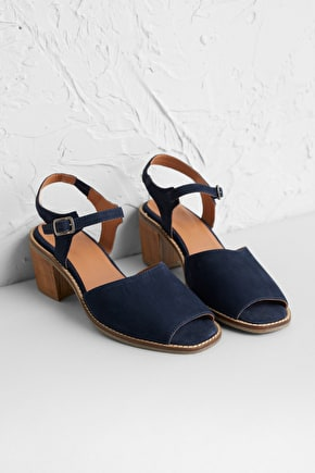 Endelyn Sandal, Mid Heel Leather Sandal - Seasalt Cornwall